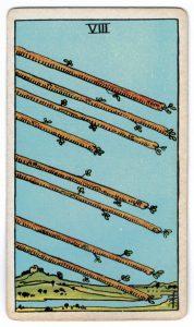 Skeptrų aštuoni taro korta
