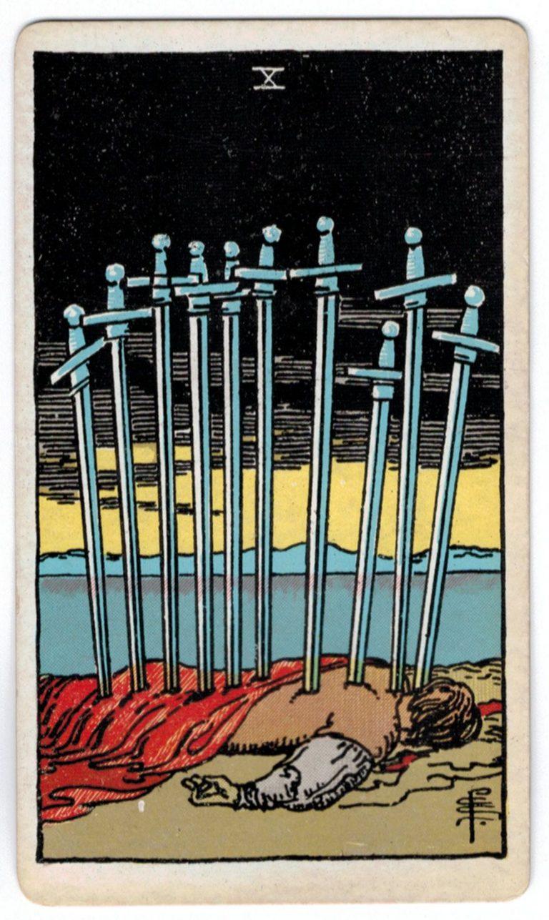 kardų dešimt taro korta