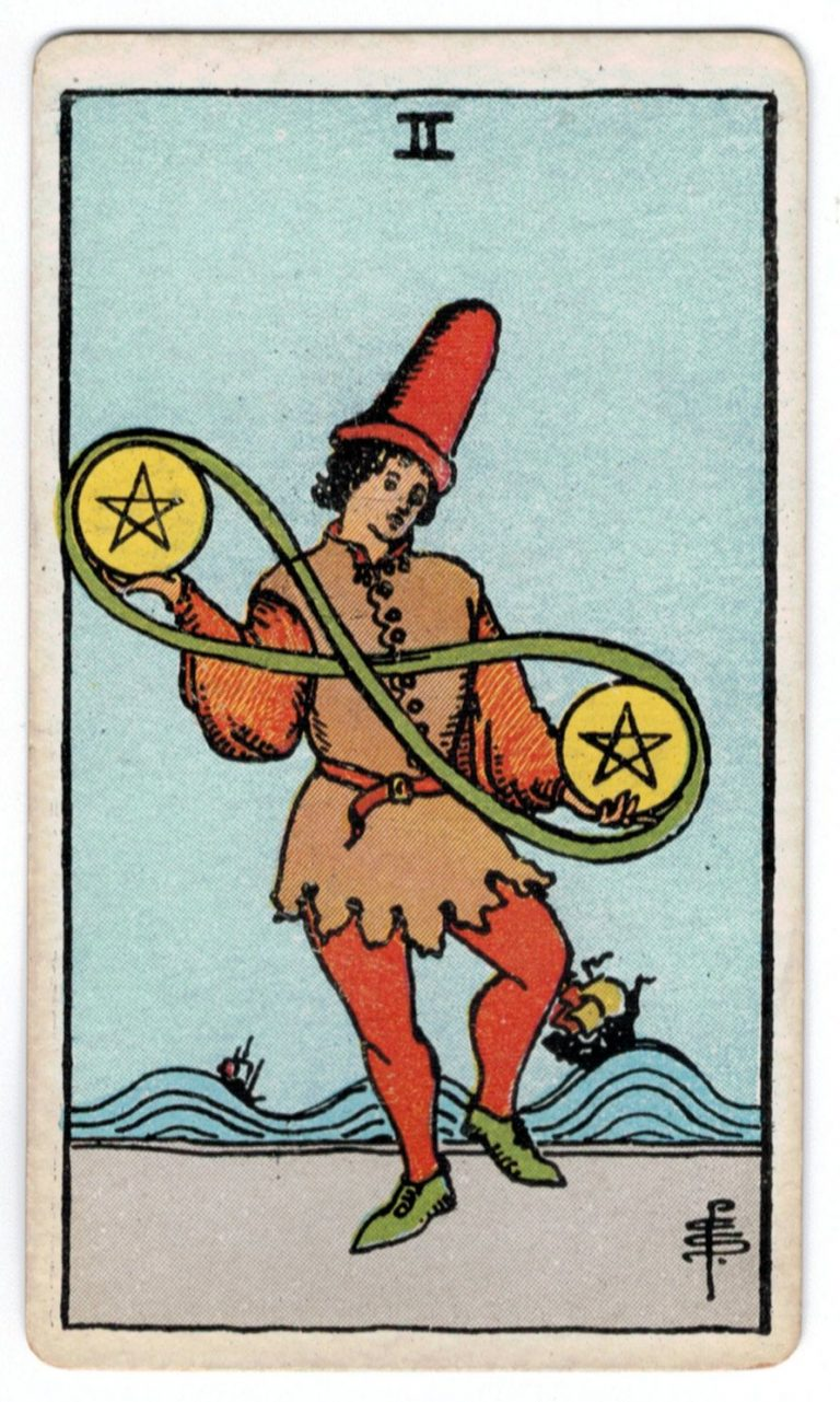 Monetų du taro korta