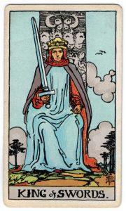 Kardų karaliaus taro korta