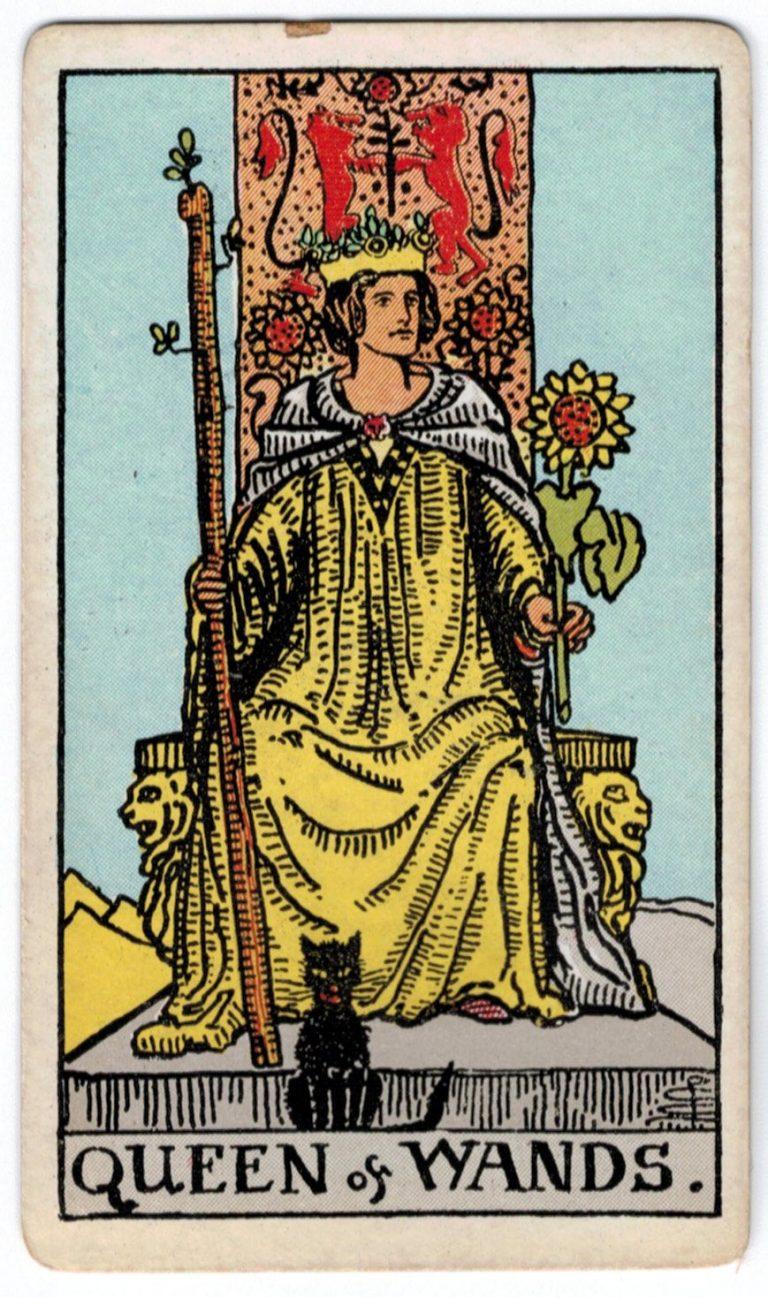 Skeptrų karalienės taro korta